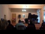 Веселухина Анжела играет на конкурсе им.Власенко 29.11.2014